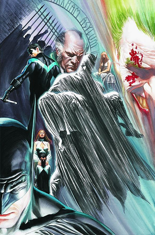 BATMAN #683, Cover by Alex Ross.  This special two-part tale narrated by Sir Alfred Pennnyworth reflects upon the life and times of Gotham City's most celebrated citizen – and hints at what's next for The Dark Knight. Grant Morrison delivers a story of past memories, present heartache and future promises. A spectacular, unforgettable farewell to The Dark Knight, mixing memory, dream and speculation as Alfred closes the casebook on the greatest crimefighter of all time. With guest appe