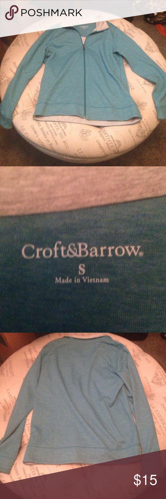 Croft & Barrow blue zip up sweatshirt size small Like new blue zip up sweatshirt by Croft & Barrow size small SKU 36 croft & barrow Tops Sweatshirts & Hoodies