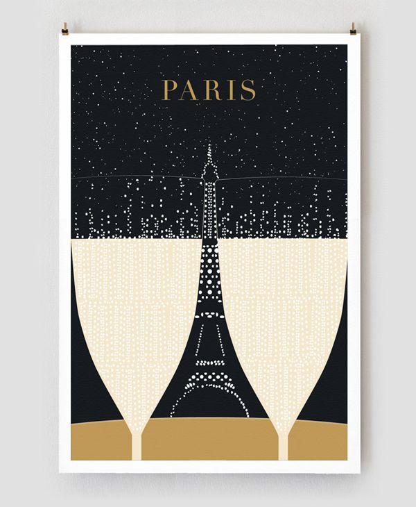 パリをテーマにしたイラストポスター | sohocollege