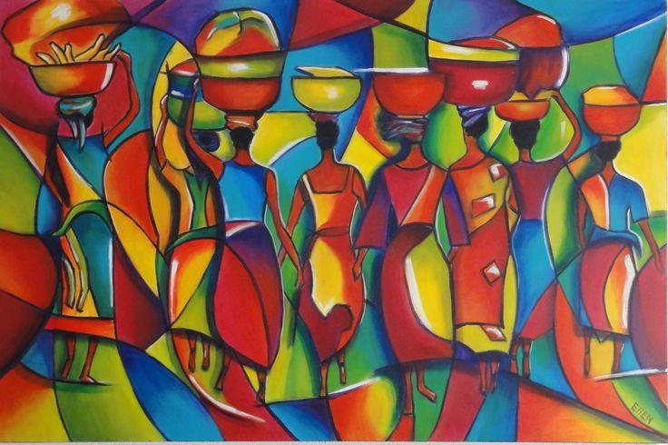 Afrikaanse vrouwen 150 x 100