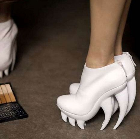 White shark teeth heels---HA HA HA: Shoes, Fashion, Vans, Style, Fang, Irises, Iris Van Herpen, Nudes, United Nude