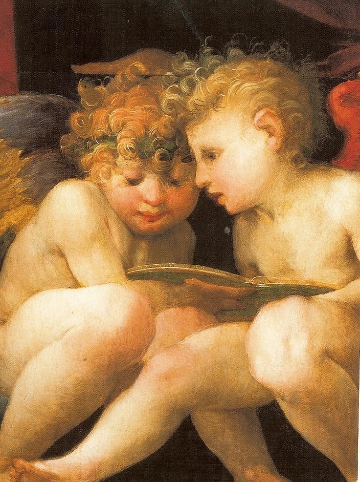 1518, Rosso Fiorentino, detail of Moadonna and Child with Four Saints; Firenze, Galleroa degli Uffizi.