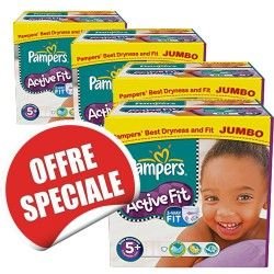 Maxi Giga Pack Jumeaux 870 Couches Pampers Active Fit de taille 5+ sur Les Looloos