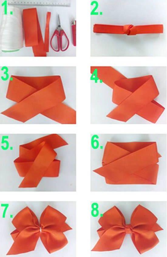 Как сложить бантик для открытки, обложку для блокнота