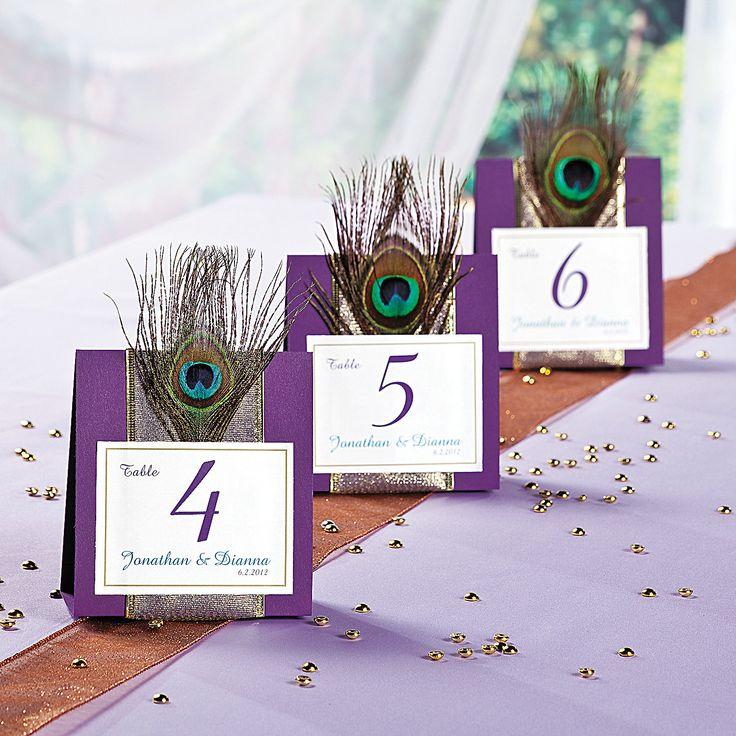 Peacock Wedding Table Numbers - OrientalTrading.com