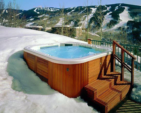 24 best pool and spa in winter images on pinterest. Black Bedroom Furniture Sets. Home Design Ideas