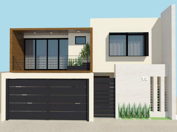 Las 25 mejores ideas sobre fachadas de casas modernas en for Frentes de casas minimalistas