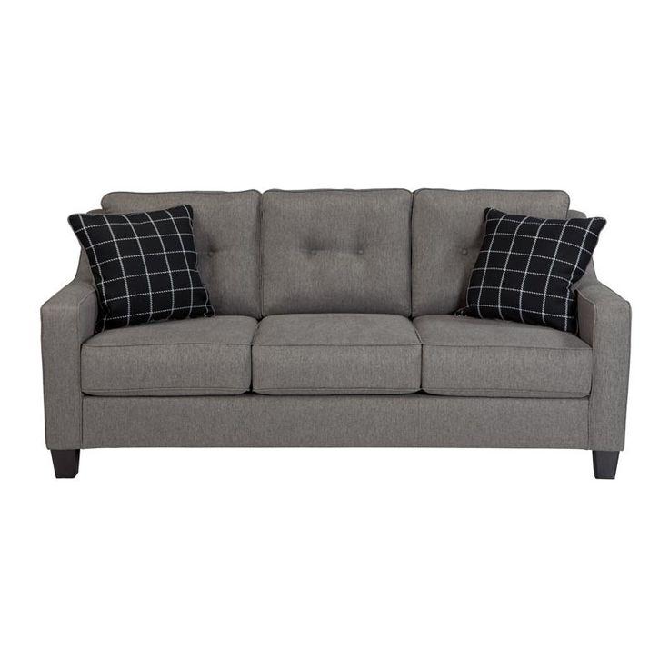 Leather Sofa The Brindon Sofa by Ashley Furniture es in stone gray Hardwood frame ud durability