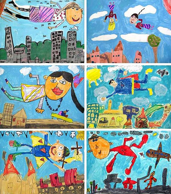 1st Grade Chagall Studies by ramahughes, via Flickr