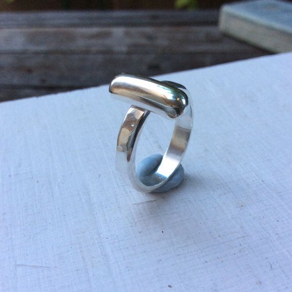 Silver ring boho ring statement silver ring thick by SilverPinions