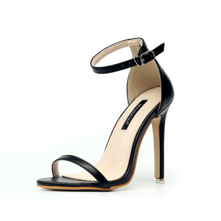 Women Summer Sandals PU Open Toe Ankle Buckle Block High Heels Concise Office Lady Career Thin Heels Shoes Pumps