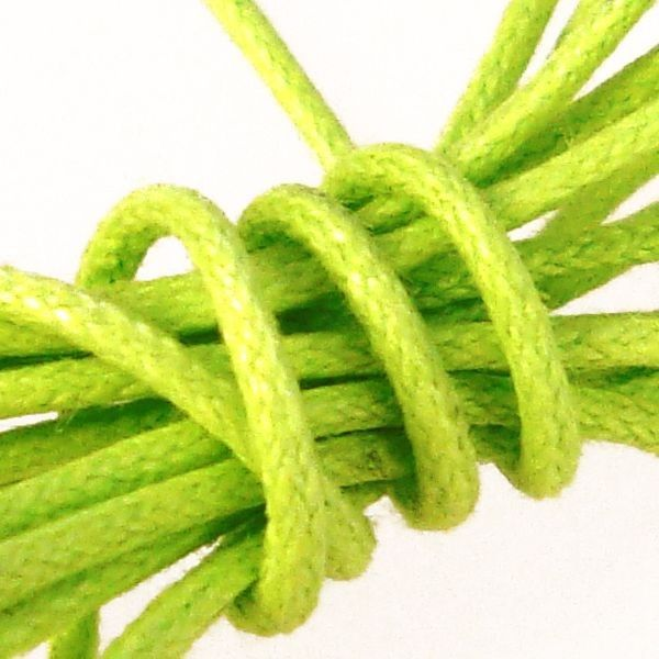 Waxed Cotton Cord : 0.5mm : Lime