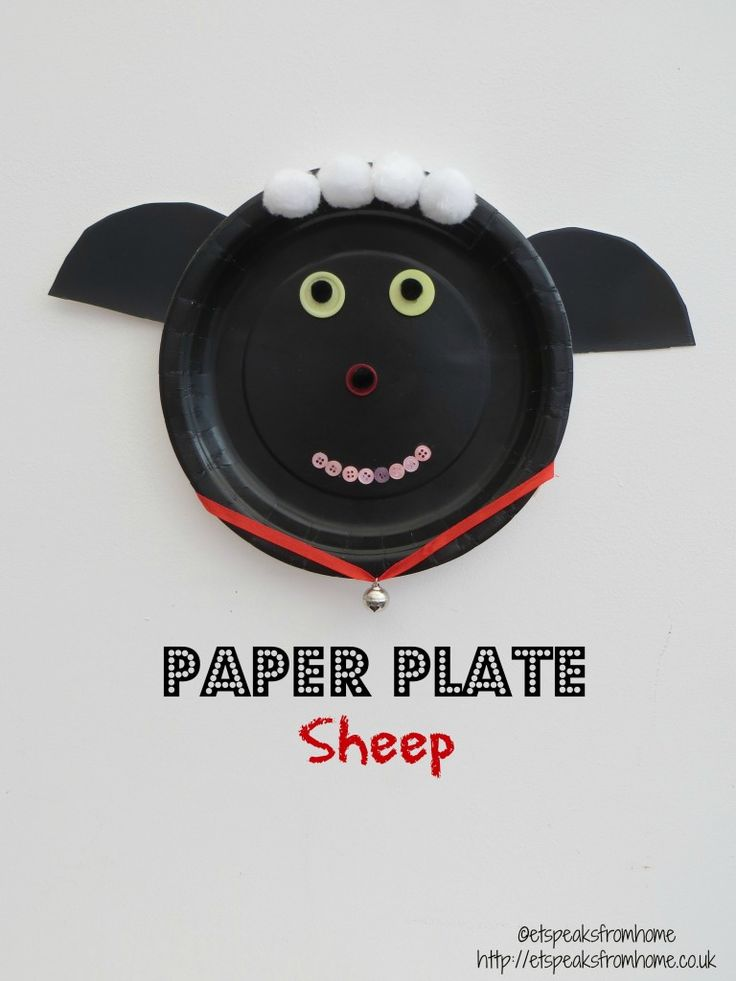 Paper Plate Sheep - ET Speaks From Home
