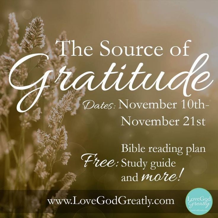 """Our New Bible Study starting on November 10th. """"The Source of Gratitude"""". As we approach this season of Thanksgiving, we want to intentionally focus on God - The Source of Gratitude! We're turning our hearts toward the Giver of all... won't you join us? LoveGodGreatly.com"""