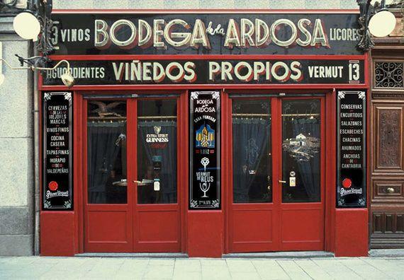 Atlas del vermut en Madrid: - Bodegas Ángel Sierra (Gravina, 11). - Casa Camacho (Calle de San Andrés, 4) - Carmencita (Libertad, 16)