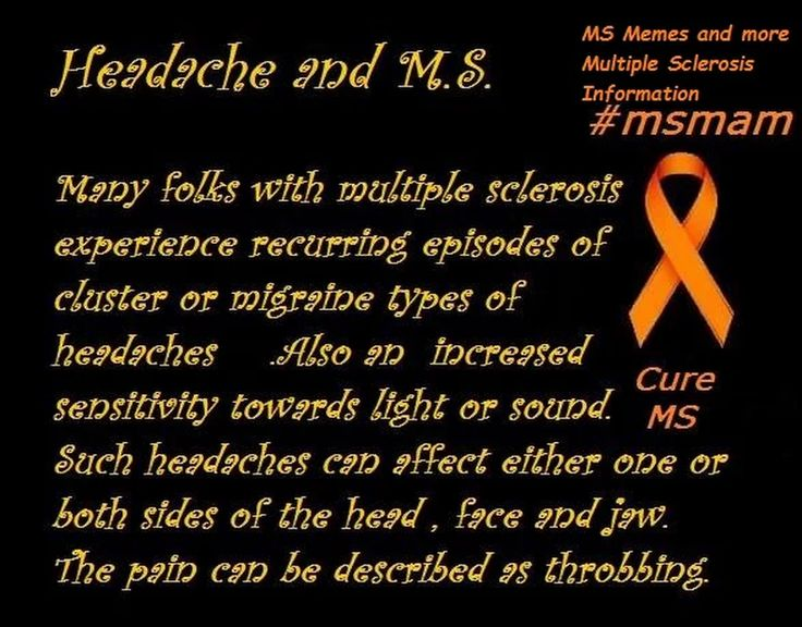 Headache and MS  #mseducation #curems #teachmems by #msmam  for MS Memes and more Multiple Sclerosis Information #msawareness