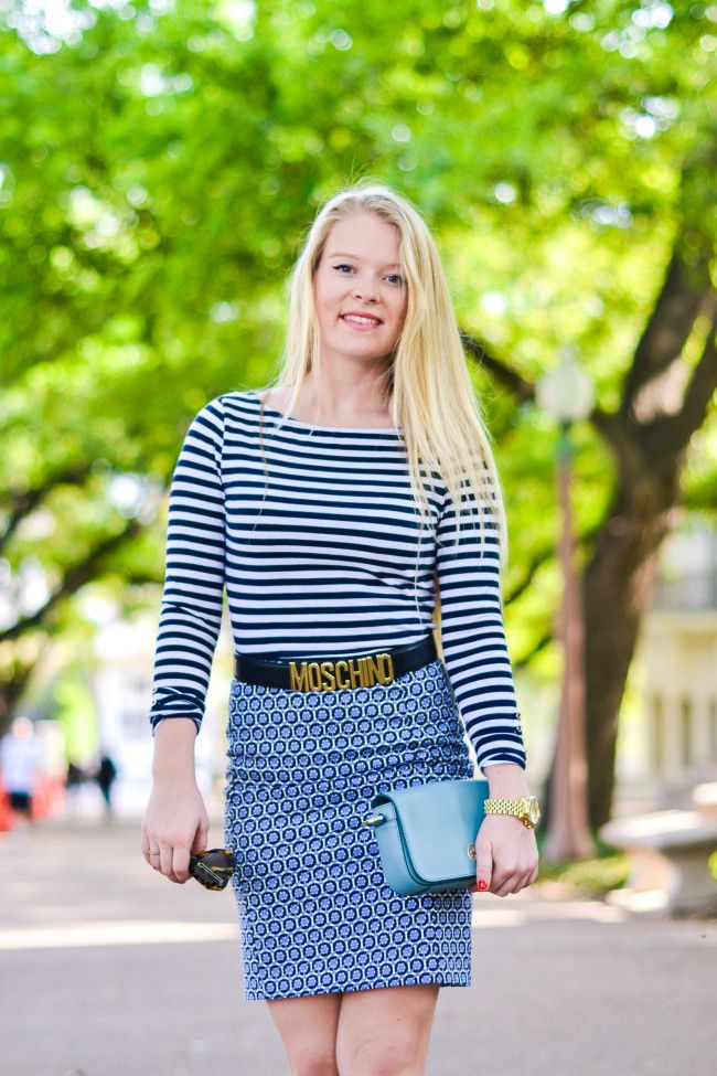 Stripes on pattern, my favorite! #toryburch #ootd #spring #fashion
