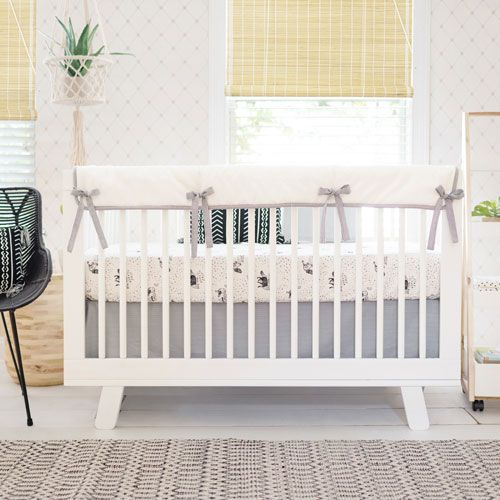 Black and White Crib Bedding | Woodland Baby Bedding | Black Crib Bedding