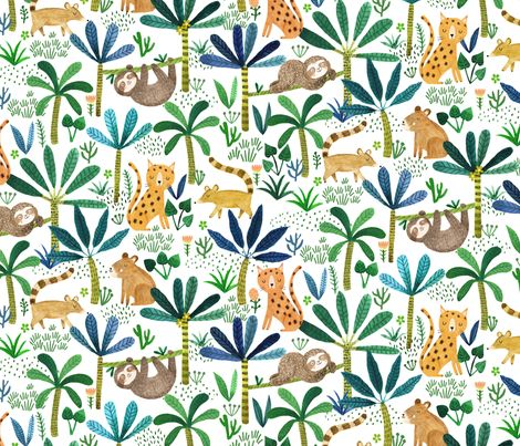 Jungle Fever fabric by drawnbyrebeccajones on Spoonflower - custom fabric