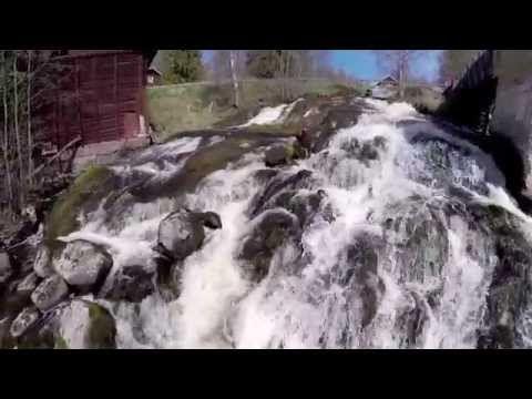 Ilmakuvaa Suomen putouksilta (video 4:47).