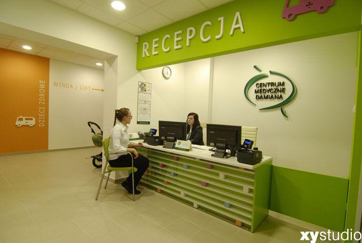 Centrum Medyczne Damiana Warszawa ul. Wałbrzyska 46 projekt wnętrz xystudio 2012