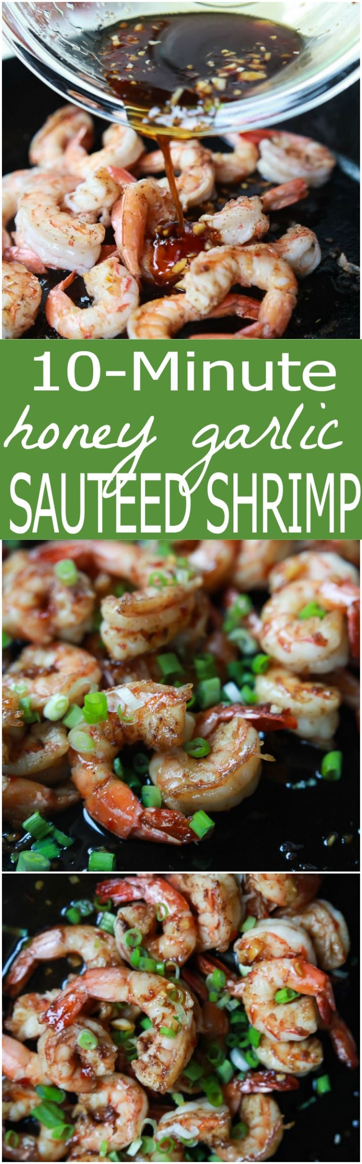 This sweet and spicy Honey Garlic Sauteed Shrimp is easy, light, absolutely delicious and only takes 10 minutes to make - definitely a winner! | joyfulhealthyeats