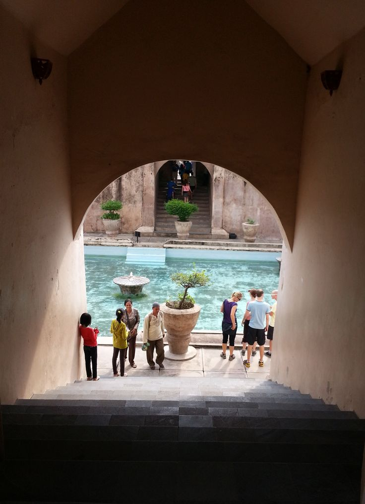 taman sari water castle // a part of the sultanate complex.