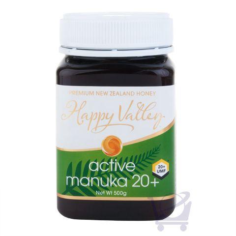 New Zealand Active/UMF 20+ Manuka Honey – Happy Valley – 500g | Shop New Zealand