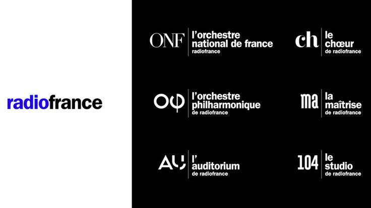 Après avoir porté son ancien logo pendant 12 ans, Radio France a fait confiance à l'agence W pour rénover l'identité visuelle de ses formations musicales et de ses grandes salles. Le logotype sort maintenant de