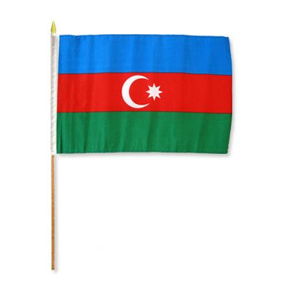 FlagsImporter Azerbaijan Traditional Flag and Flagpole Set