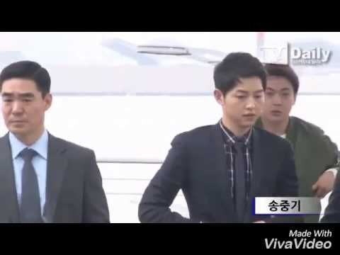 "Song Joong Ki at Incheon Airport heading to Hongkong for Fashion Show Event ""Dior Homme""(2016.04.22) - YouTube"