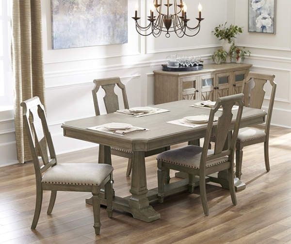 Broyhill Tuscany 5 Piece Dining Set With Wood Back Chairs Big