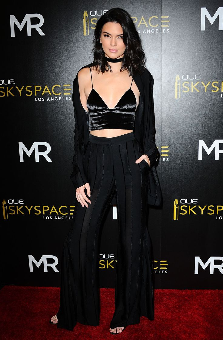 All-black everything totally works for summer, FYI. Take style cues from Kendall Jenner and break your all-black look up with a velvet bralet. Choker optional (but pretty damn cute).