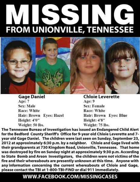 ALERT MISSING CHILDREN TENNESSEE..still have not been found very strange case hopefully they will be found safe soon..