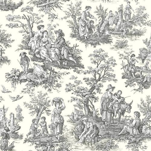 York Wallcoverings WA7828 Waverly Classics Country Life Wallpaper, Red cranberry