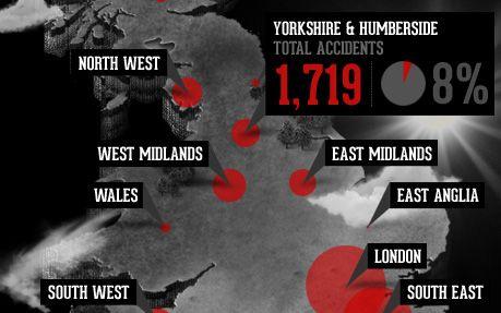 UK Motorcycle Accident Hotspots Map #webdesign #inspiration #UI