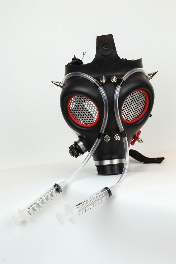 SteamPunk+Israeli+Gas+Mask+Cyber+Gothic+Cosplay+Halloween+Rave+Punk+burning+man+#Handmade