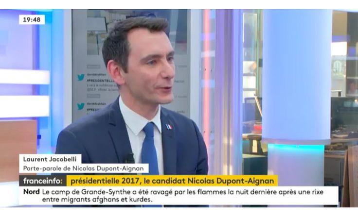 Debout La France - Laurent Jacobelli sur France Info TV
