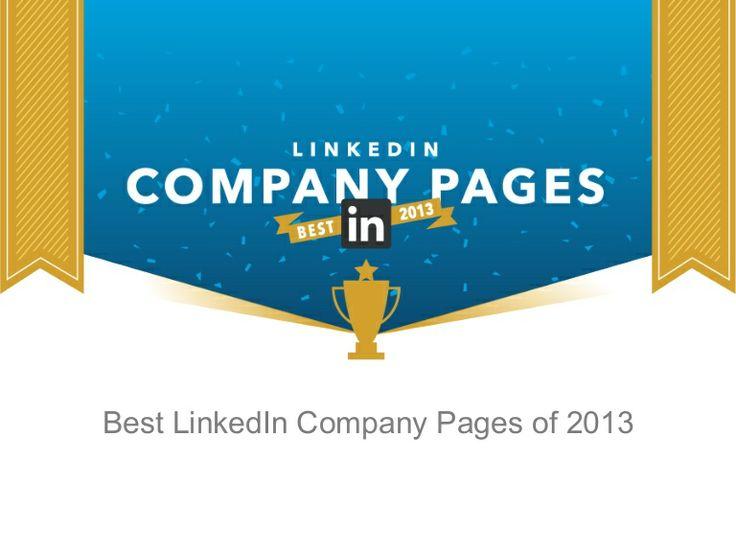 LinkedIN company profiles