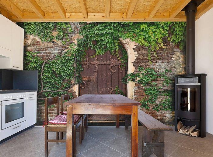 Günstige Fototapeten Ideen Secret Garden in der Küche ...