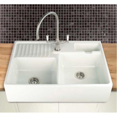 berlioz double sinks double ceramic sinks ceramic sinks kitchen fittings holloways of ludlow - Double Ceramic Kitchen Sink