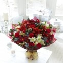 Extra Large Christmas Cracker Hand-Tied Bouquet, buy online for Christmas delivery.