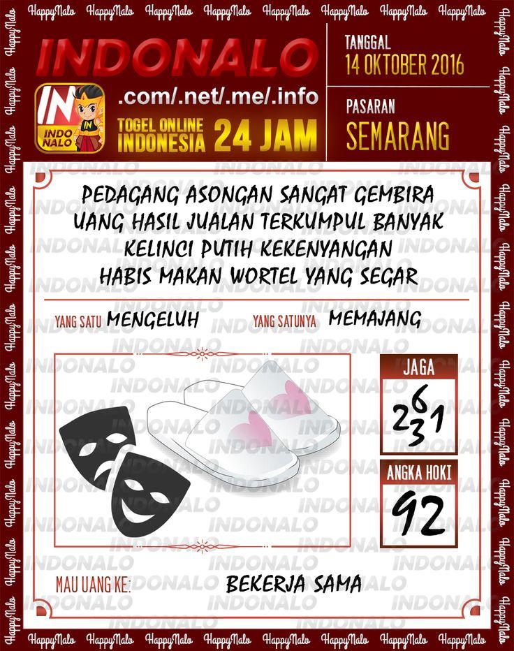 Colok SDSB Togel Online Live Draw 4D Indonalo Semarang 14 Oktober 2016