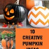 "10 Creative Pumkin Ideas  ""i Heart Nap Time"""