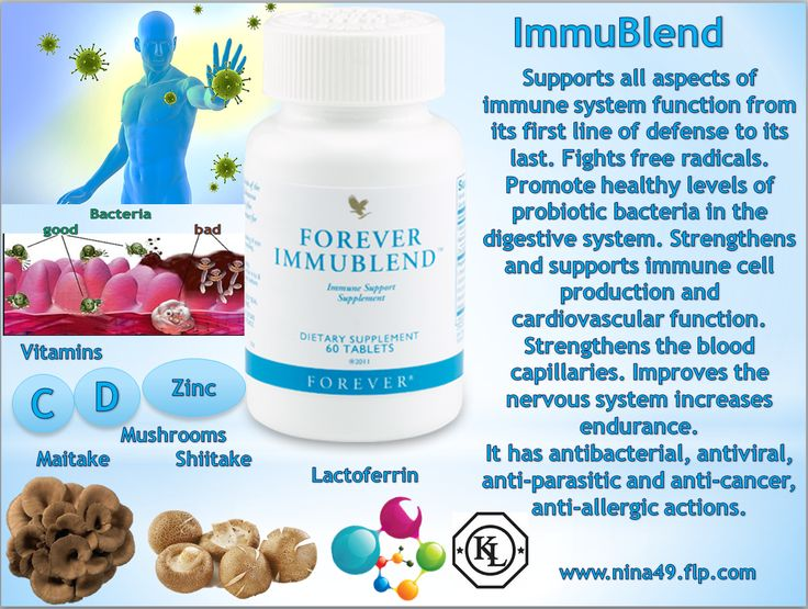 •	Signs of declining immune activity •	fast fatigue •	chronic fatigue •	sleepiness or insomnia •	headache •	aching muscles and joints. Immunity-our ticket to infinity, so called it American scientist Robert Goldman •	FLP took care of your immunity, by creating a new unique product-Forever Immublend that will help you support the immune system  Order at www.nina49.flp.com