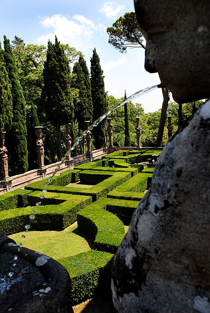 Villa Lante - in province of Viterbo - image uploaded by Pinner Jill McKeown - Villa Lante at Bagnaia is a Mannerist garden of surprise near Viterbo, central Italy, attributed to Jacopo Barozzi da Vignola.