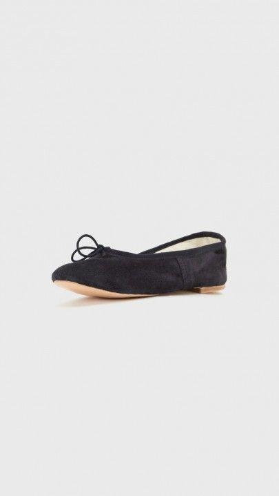 A.P.C. Porselli Ballerina Flats in Dark Navy | The Dreslyn