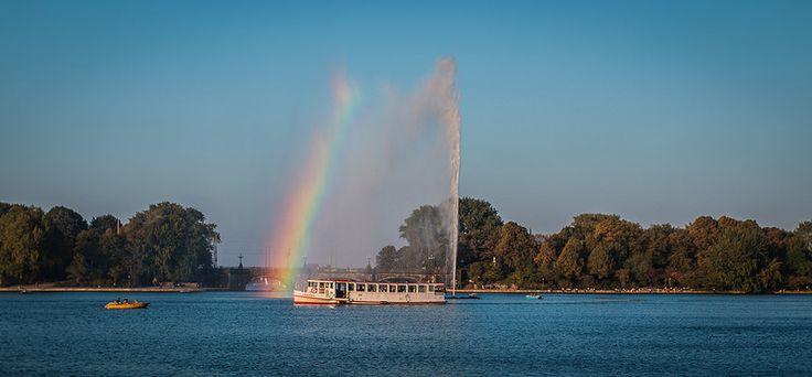 Alster fountain rainbow