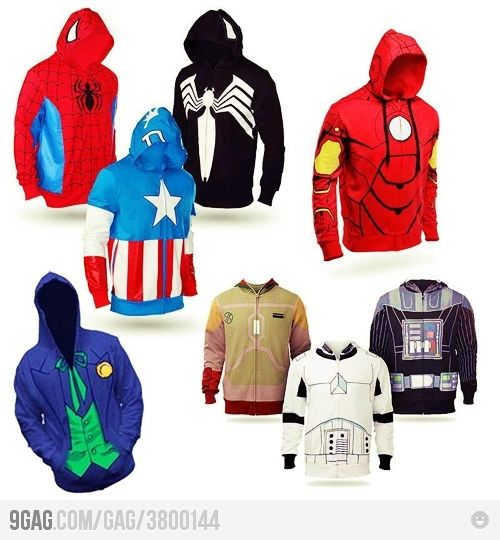 ALL THE HOODIES :D