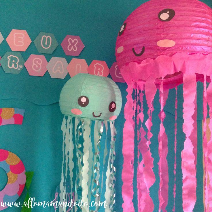 Vous savez comme j'adore créer des choses, peindre, bricoler, customiser... J'ai voulu faire une joli décoration pour l'anniversaire Sirène de Plumette! Al